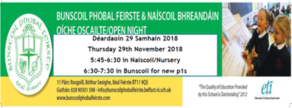 Oíche Oscailte/Open Night